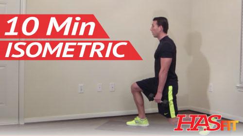 10 Minute Isometric Workout - Isometric Exercises ...
