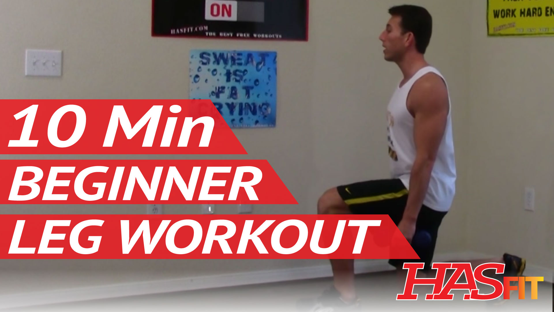 10 Min Beginner Leg Workout - Easy Leg Workouts - Beginner ...