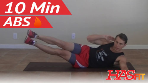Torching 10 Minute Abs Workout - HASfit Ten Minute Ab ...
