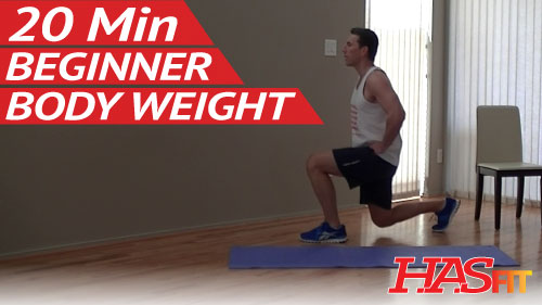 Min beginner bodyweight workout hasfit easy workouts
