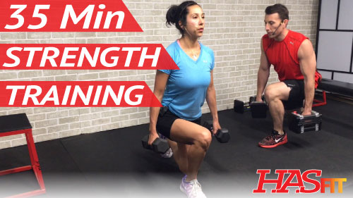 35 Min Strength Training for Women & Men at Home - Weight ...