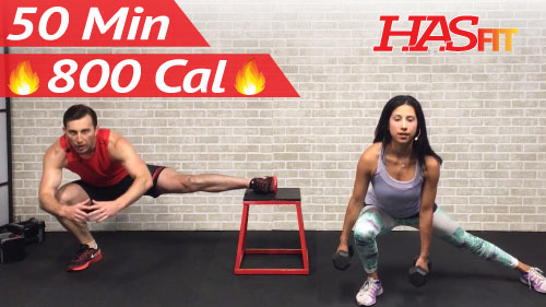 50 Min Total Body Strength Workout with Weights - HASfit ...