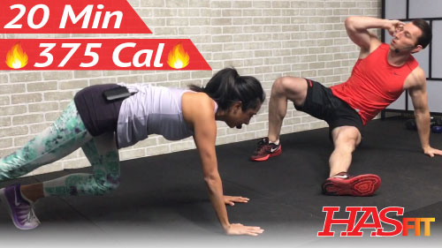 20 Minute HIIT Workout w/ Cardio, Strength Training ...