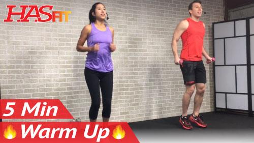 5 minute fat burning cardio warmup exercise