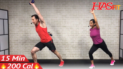 15 Minute Standing Abs Workout - HASfit - Free Full Length ...