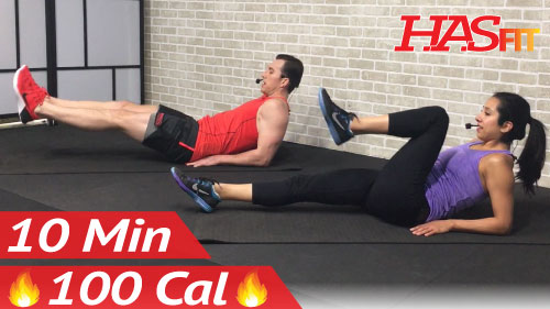10 min lower ab workout - hasfit