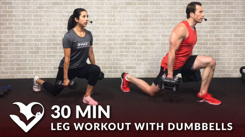 30 Minute Leg Workout with Dumbbells - HASfit - Free Full ...