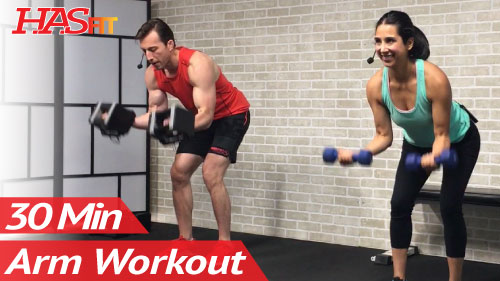 30 Minute Dumbbell Arm Workout - HASfit - Free Full Length ...