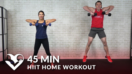 45 Minute HIIT Home Workout With Weights
