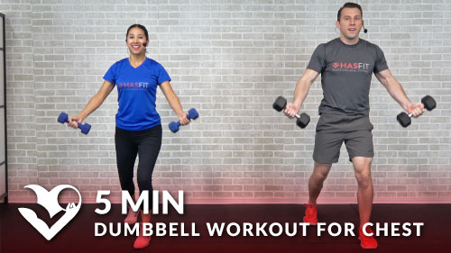 5 Minute Dumbbell Workout For Chest