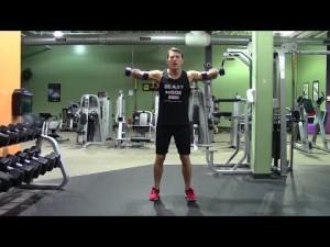 blasting shoulder workout in the gym  hasfit shoulder