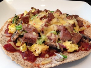 Mediterranean Breakfast Egg Muffin - HASfit Healthy