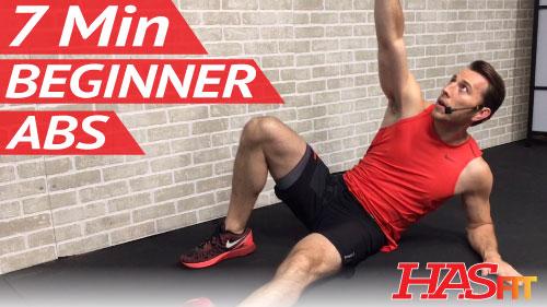 7 Min Beginner Ab Workout for Women & Men - HASfit - Free ...