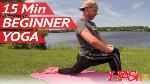 15 Min Yoga for Beginners w/ Sean Vigue - HASfit - Free Full Length Workout  Videos and Fitness Programs