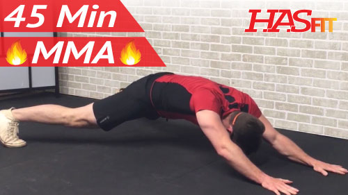 45 Min MMA Workout Routine - HIIT, Conditioning, & Abs ...