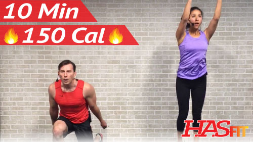 10 Minute Workout : HIIT Home Cardio Workout Without Equipment · Video