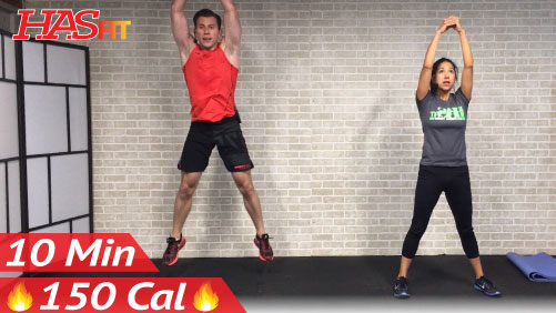 10 Minute Workout : HIIT No Equipment Cardio Workout · Video