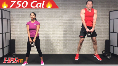45 Min HIIT Kettlebell Workouts For Fat Loss Strength