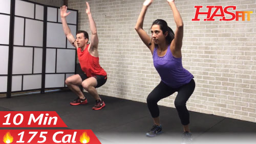 10 Minute Cardio Workout : HIIT Home Workout without Equipment · Video