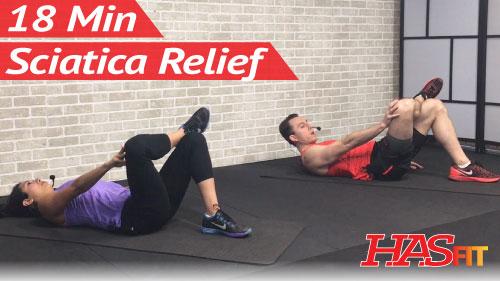 18 Min Sciatica Exercises for Leg Pain Relief - HASfit ...