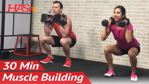 30 Min Home Leg Workout With Dumbbells