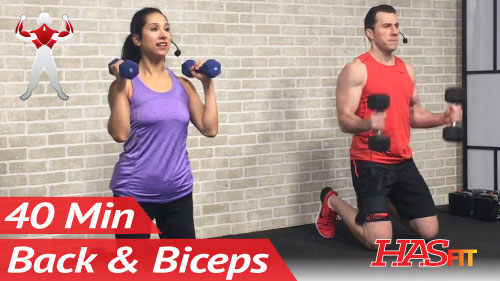 40 Min Back And Bicep Workout For Women Men