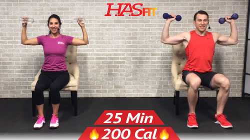 25 Min Chair Exercises Sitting Down Workout Hasfit