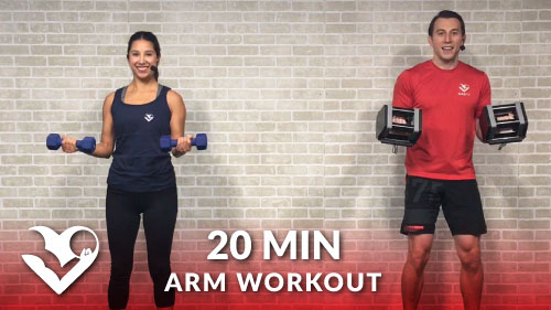 20 Minute Arms Workout at Home with Dumbbells - HASfit ...