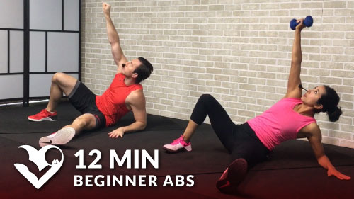 12 Min Beginner Ab Workout - HASfit - Free Full Length ...