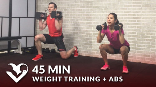 45 min weight training workout   abs - hasfit