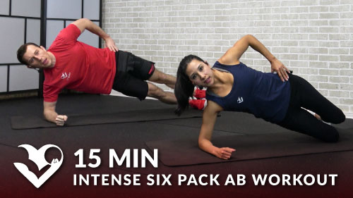 15 Minute Intense Six Pack Ab Workout No Equipment