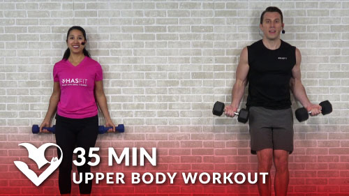 35 Minute Upper Body Workout At Home Hasfit Free Full Length Workout Videos And Fitness Programs