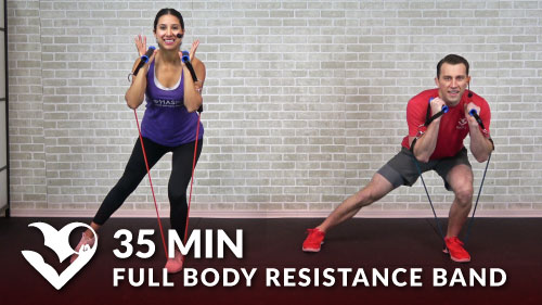35 Min Full Body Resistance Band Workout Hasfit Free Full